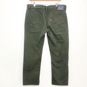 Levi's 511 Slim Fit Durable Green Denim Jean 36x32